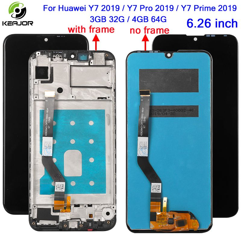 Display For Huawei Huawei Y7 2019/Y7 Pro 2019/Y7 Prime 2019 LCD Display+Touch Screen HD Panel Digitizer Assembly 3GB 32G 4GB 64G