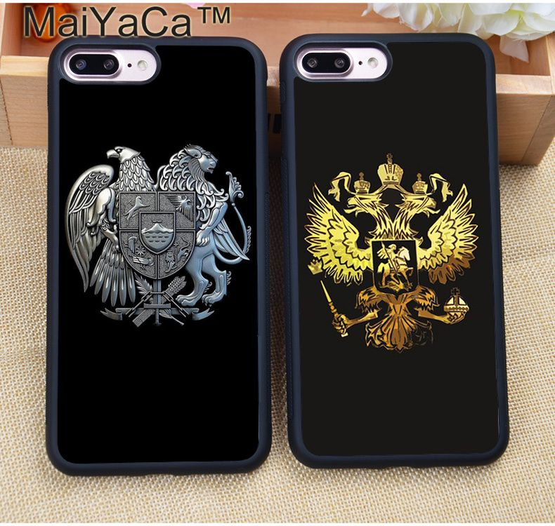 MaiYaCa Cool Russian coat of arms Flag Rubber Phone Case For iphone XR XS MAX 11 Pro MAX X 6 6S 7 8 Plus 5 5S Back Cover Shell