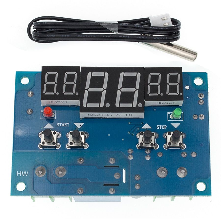 DC12V thermostat Intelligent digital thermostat temperature controller With NTC sensor W1401 led display