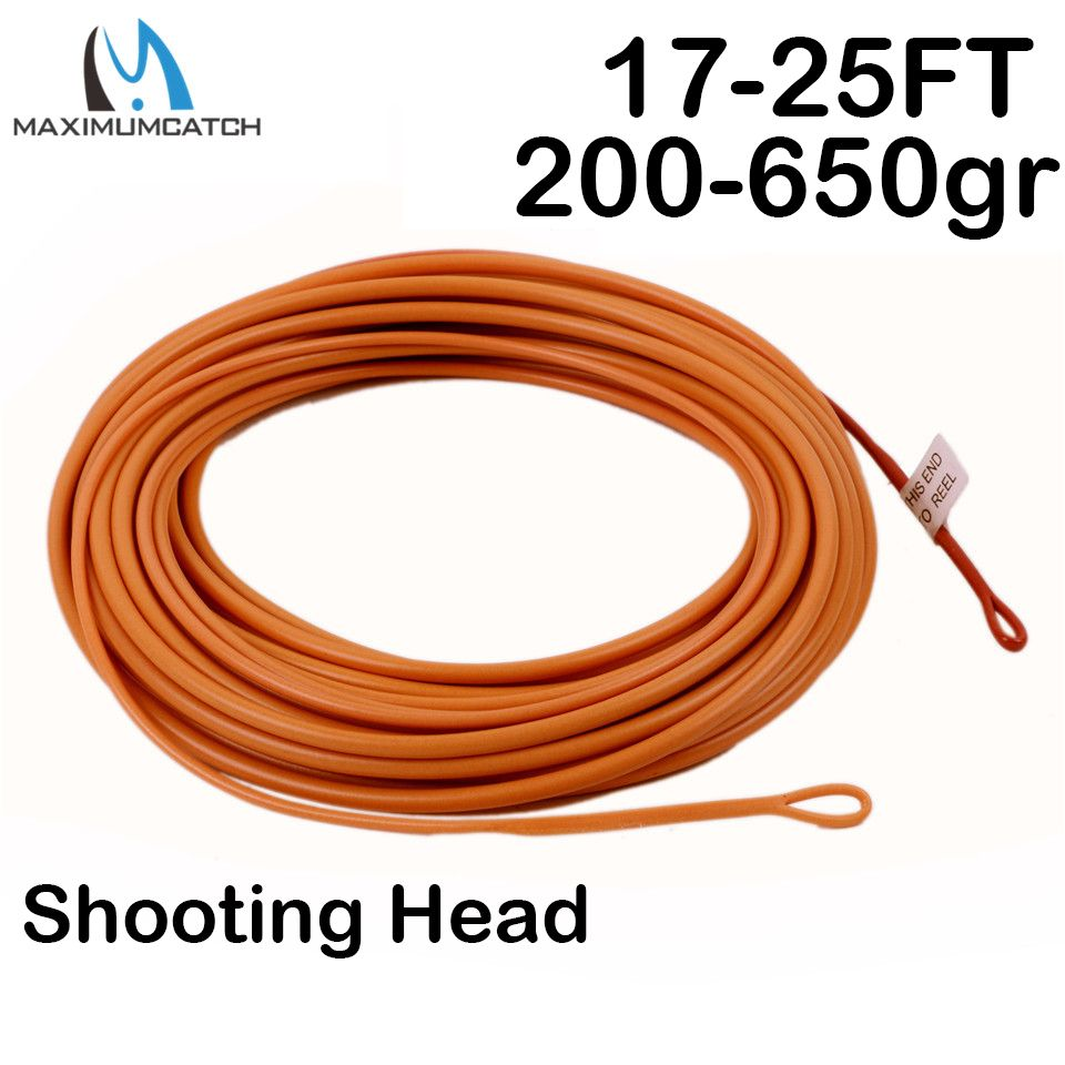 Maximumcatch New Floating Fly Line  Shooting Head 17-25ft 200-650gr Fly Line With 2 Welded Loops