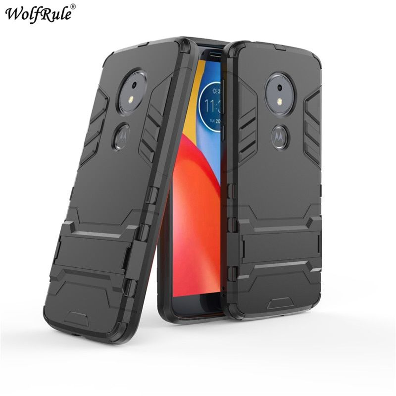 For Motorola Moto G6 Play Case Moto E5 G6 G5S Plus Z2 Play Bumper TPU & PC Holder Hard Back Cover For Moto G6 Play Phone Case