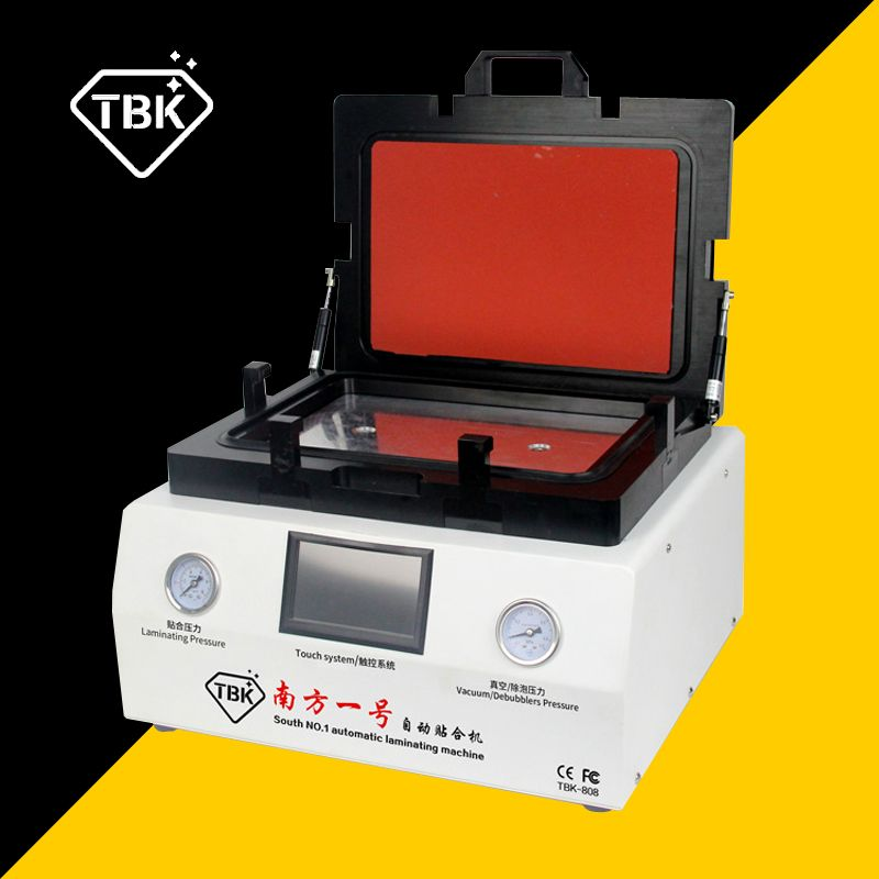 TBK-808 LCD Touch Screen Repair Automatic Bubble Removing Machine OCA Vacuum Laminating Machine with automatic lock gas