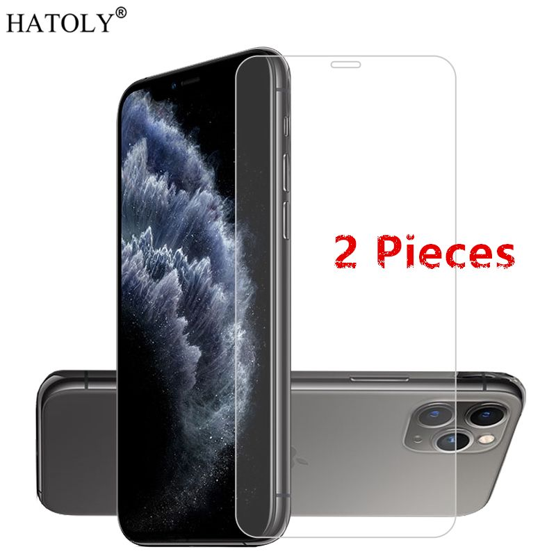 2PCS For iPhone 11 Glass For iPhone 5 5c SE Tempered Glass Film Screen Protector Protective Glass for iPhone 11 Pro Max 6 7 8 XS