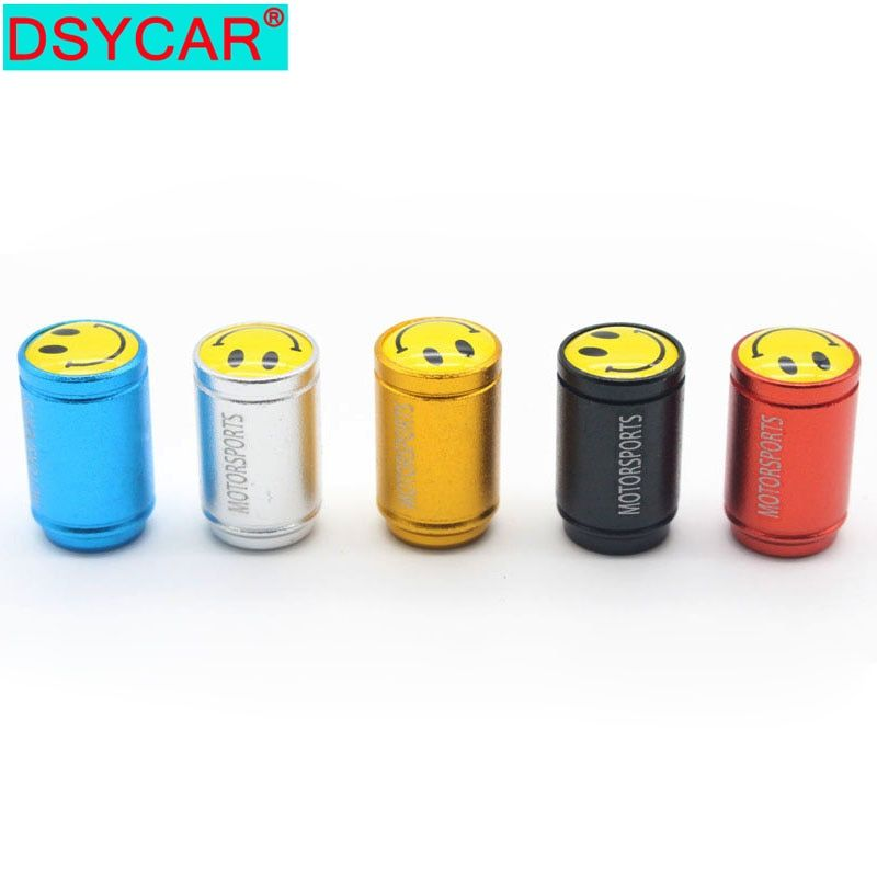 DSYCAR 4Pcs/lot Universal Car Moto Bike Tire Wheel Valve Cap Dust cover Car Styling for Fiat Audi Ford Bmw car VW Lada opel