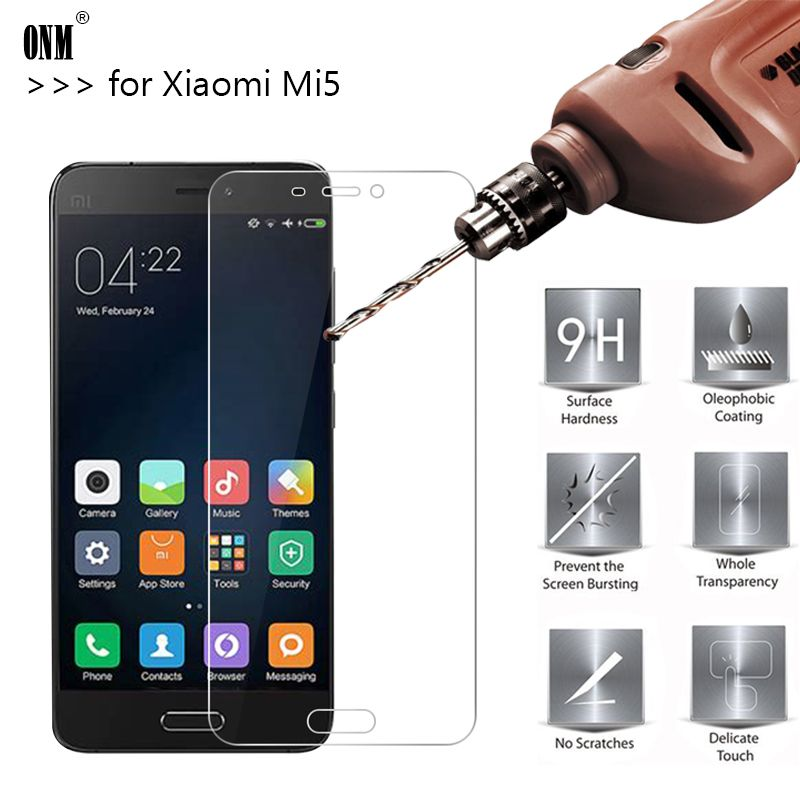 2.5D 0.26mm 9H Premium Tempered Glass For Xiaomi Mi5 M5 Screen Protector Toughened protective film For Xiaomi Mi5 M5 Glass *