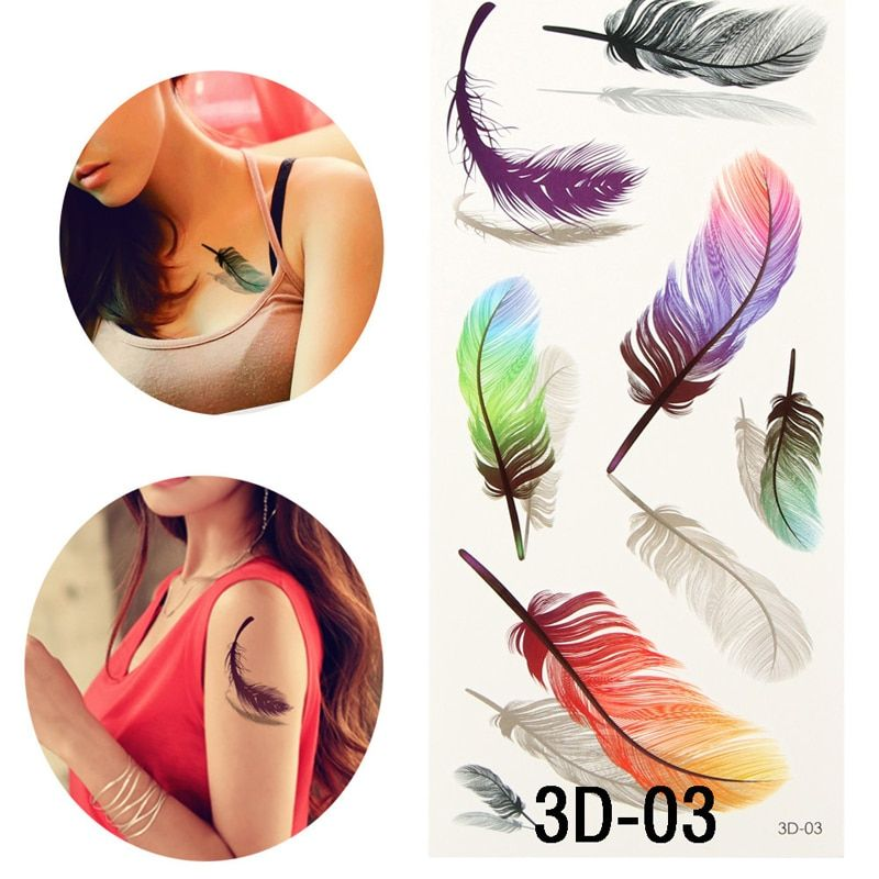 1pcs Fashion Design Temporary Tattoos Body Art Painting Stickers On The Body Waterproof Transfer Sticker Tattoos For Female