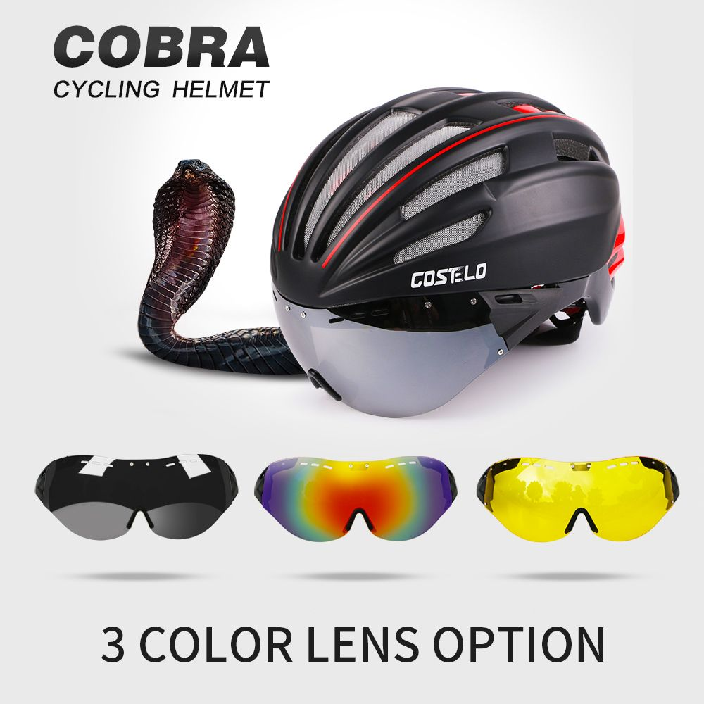 2016 Costelo Cycling Helmet 4 Colors MTB Road Bike Helmet Bicycle Helmet Speed Airo RS Ciclismo Goggles mountain super price
