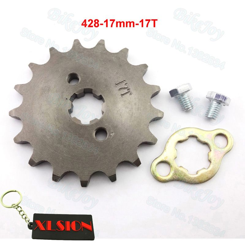 428 17 T Tooth 17mm ID Front Engine Sprocket for Stomp YCF Upower Dirt Pit Bike ATV Quad Go Kart Moped Buggy Scooter Motorcycle