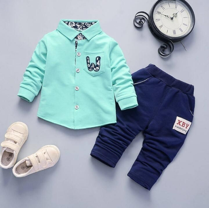 BibiCola Children Clothing Set Spring  Boys Sports Suits Stripe Tops+Pants Kids Boys Clothes Sets Toddler Children Tracksuits