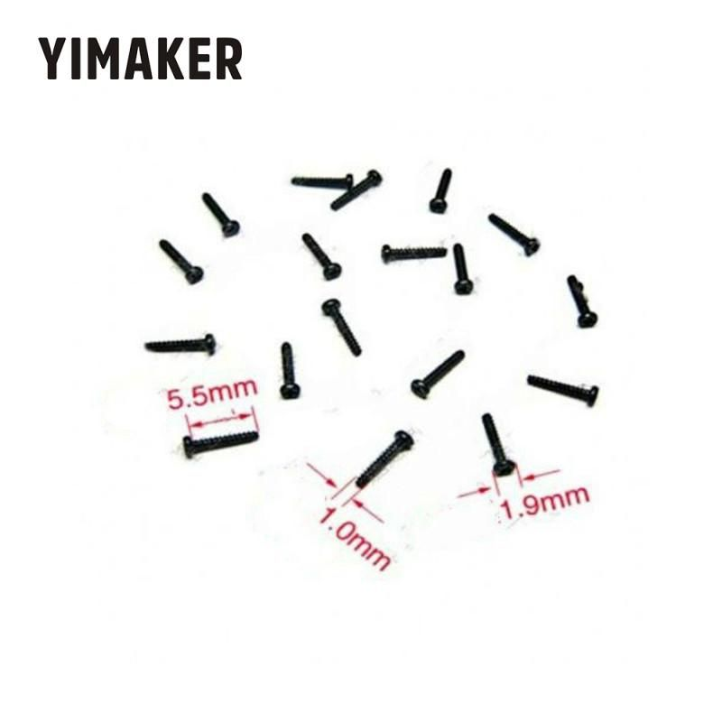 YIMAKER 100pcs M1*5.5 Round Head Self Tapping Screw Micro electron screw Flat Tail Black
