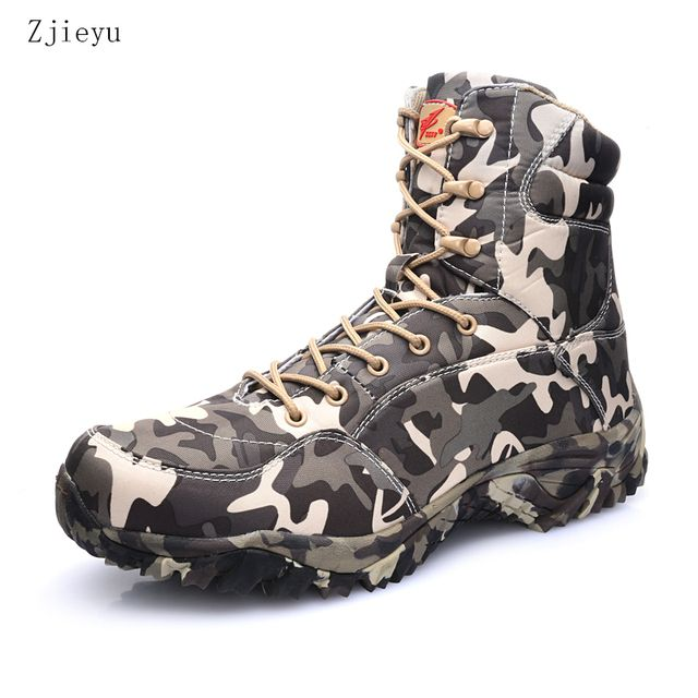Light combat boots men  with grey camouflage men boots asker bot waterproof breathable bots  Military Tactical Boots