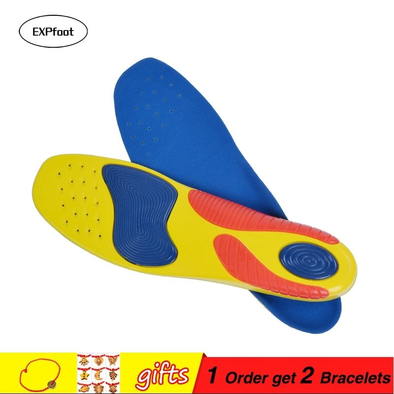 Premium Athletes Sport Insole Gel Heel Forefoot Absorbs Shock Arch Support Extreme Comfort Silpure Antimicrobial Reduces Odor