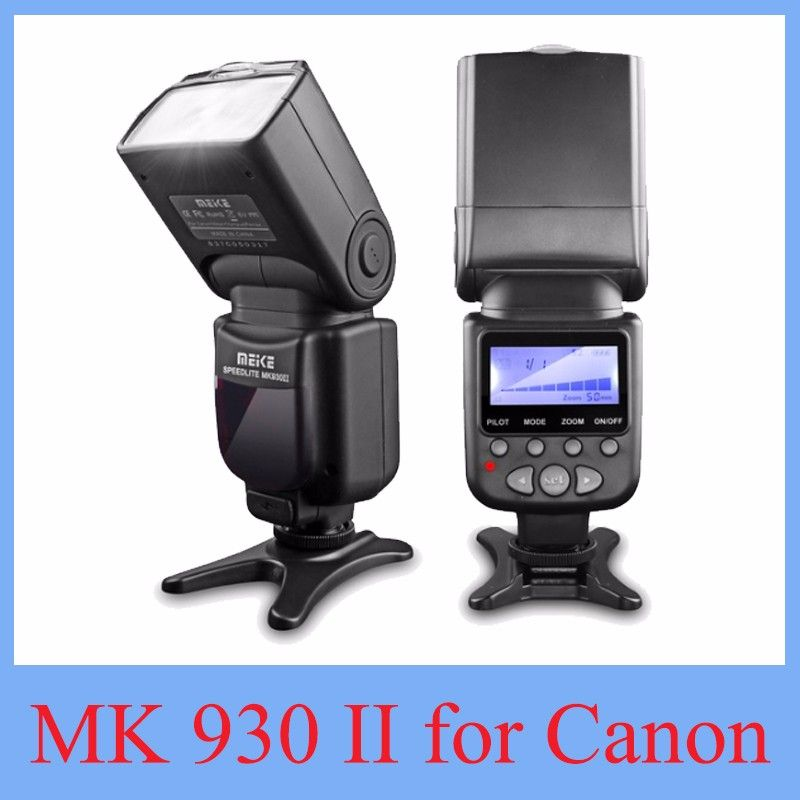 2017 NEW Meike MK-930 II Flash Speedlight/Speedlite for Canon 6D EOS 5D 5D2 5D Mark III II  AS Yongnuo YN-560 YN560 II YN560II