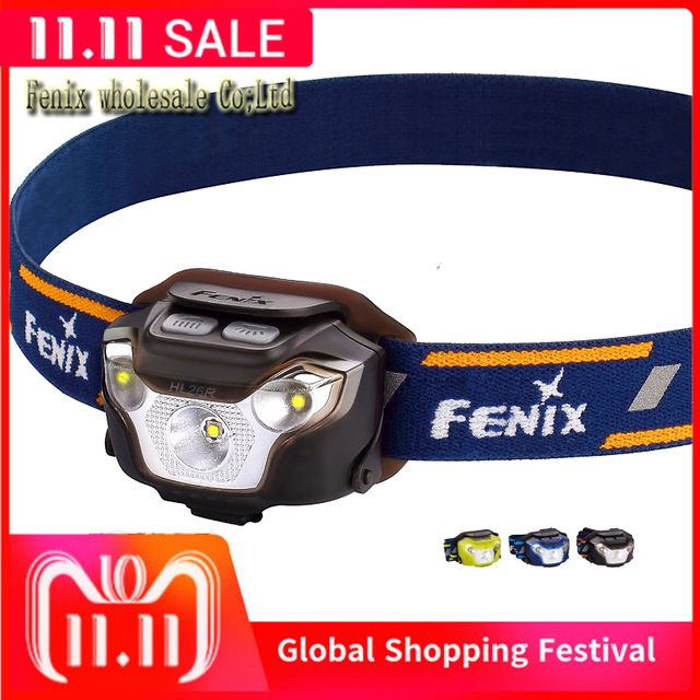 Fenix HL26R Cree XP-G2 R5 LED 450 Lumens Ultra Lightweight USB Rechargeable Headlamp for Trail Running