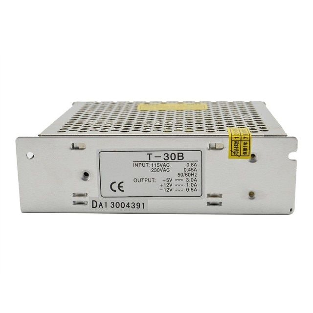 ac to dc 30W 5V/12V/-12V 3A/1A/0.5A T-30B outIet Triple output psu silver Ied driver source swtching pwer supIy voIt