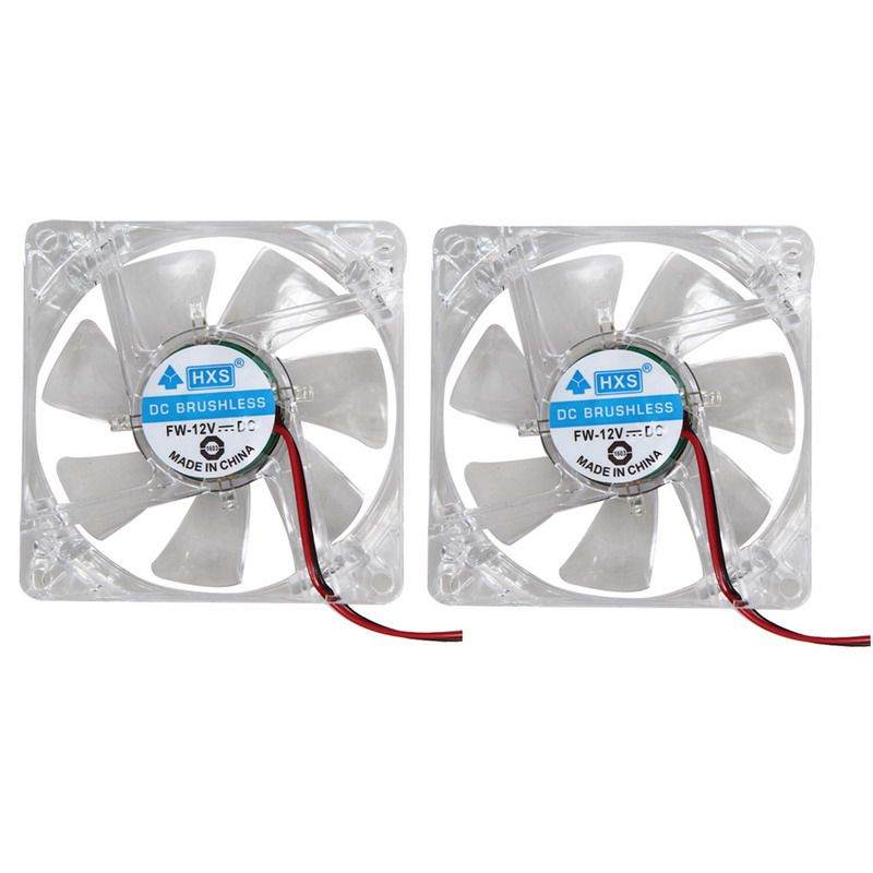 2pcs/lot Colorful LED Case Fan 12V 4Pin 80mm 80x25mm Cooling Fan For Computer PC 7-Blade CPU Cooling
