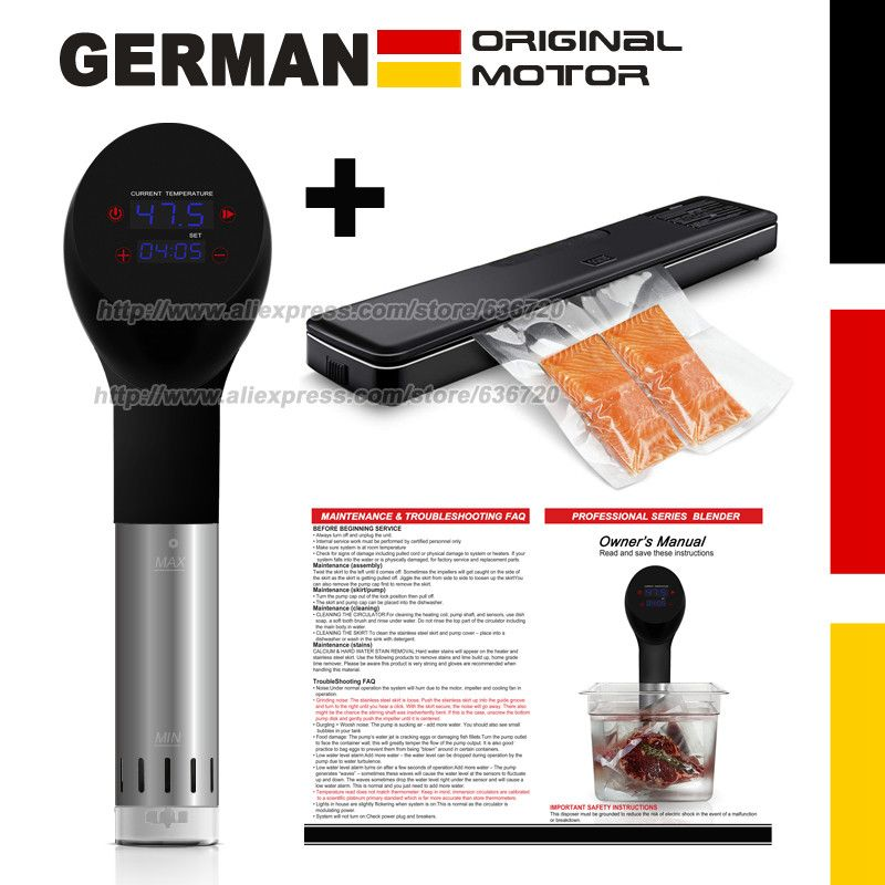German original motor technology. accurate vacuum cook Food sous vide cooking machine cooker and Vacuum Air Sealing System