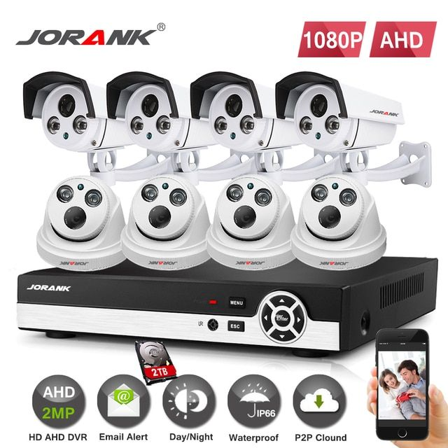 Home 8CH CCTV Security System 8 Channel HDMI 1080 P AHD DVR HD 1080P 2.0MP Outdoor Bullet Cameras Kit Video Surveillance System