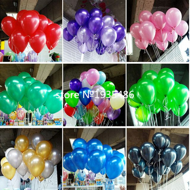 100 pcs/lot 10 Inch Birthday/Wedding Supply Latex Balloons Colorful Party Latex Air Baloon/Ballon Kids Inflatable Toy