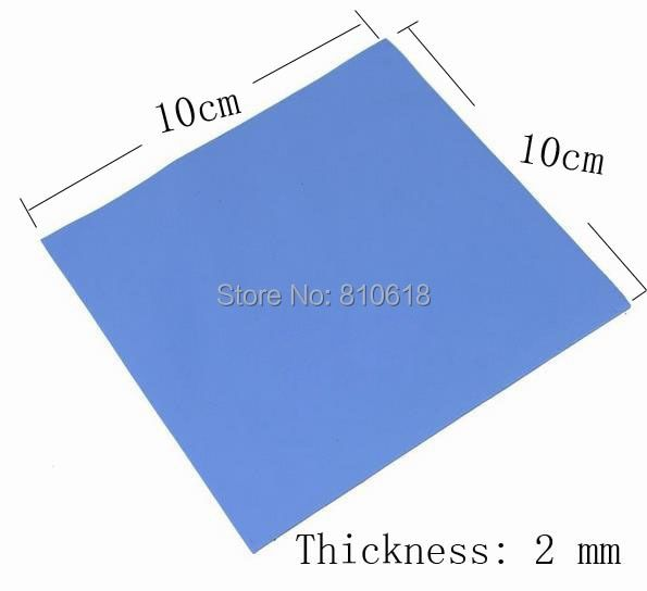 New 100mm*100mm*2mm CPU Heatsink Cooling Conductive Silicone Pad Thermal Pad  high quality
