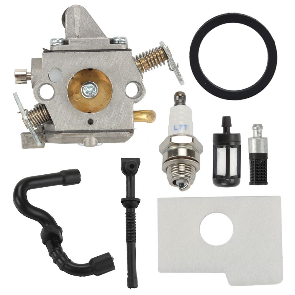 Chainsaw Zama C1Q-S57B Carburetor For Stihl 017 018 MS170 MS180 Air Fuel Filter Oil Filter Line kits