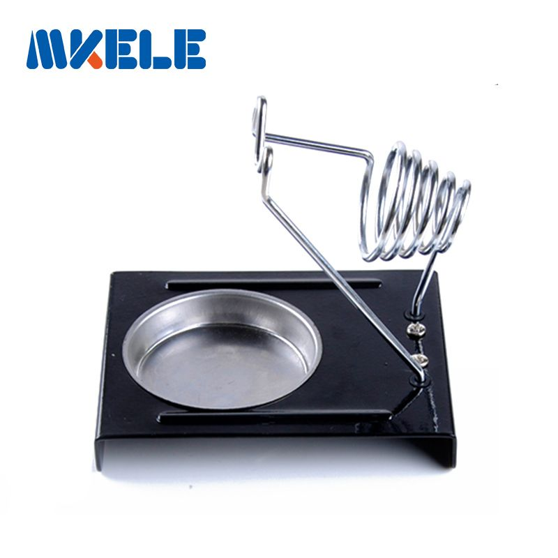 E-011 Soldering Iron Support  Stand Hol der Base Metal Rectangle Solder Support Station Soldering Iron Safety Protecting Base