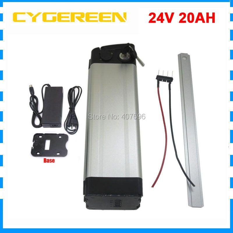 Rechargeable 500W 24V 20AH lithium ion battery pack 24 V 20AH battery 24V 7S 18650 battery pack 30A BMS with 29.4V 3A Charger