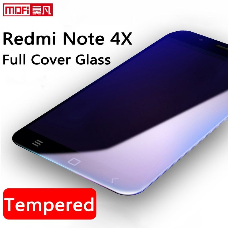 xiaomi redmi note 4x tempered glass full cover xiaomi redmi note 4x 32GB screen protector ultra thin 9H 2.5D curved mofi amazing