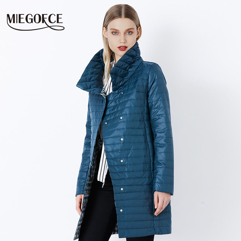 MIEGOFCE 2019 New Spring Jacket Parka Women Winter Coat Women's Warm Outwear Thin Cotton-Padded Long Jackets Coats High Quality