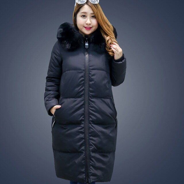 Women Duck Down Coat Jacket Extra Large Plus Size Parka with Faux Fur Hood Black Grey Pink 2XL 3XL 4XL 5XL 6XL 7XL 8XL 9XL 10XL