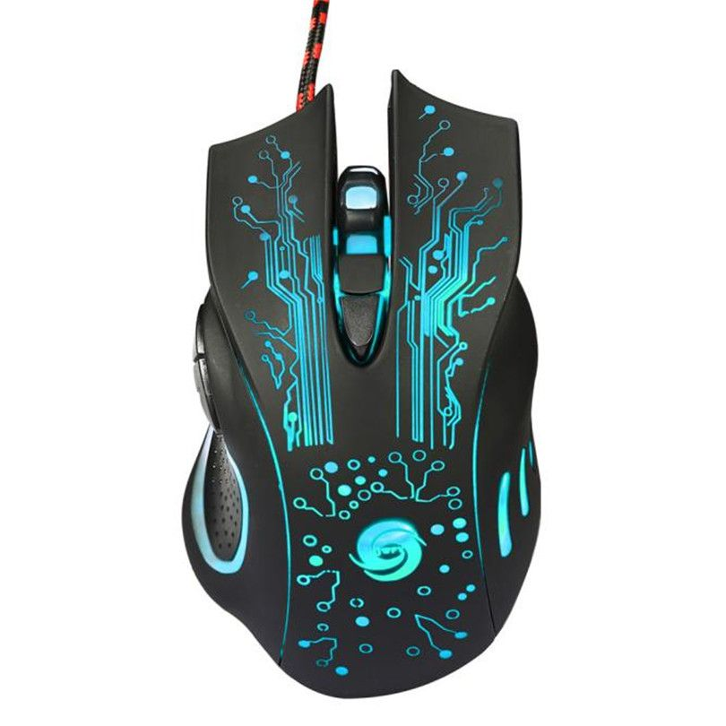 Realiable gaming mouse mouse game 6 Button 5500 DPI LED Optical USB Wired Gaming PRO Mouse Mice For PC Laptop