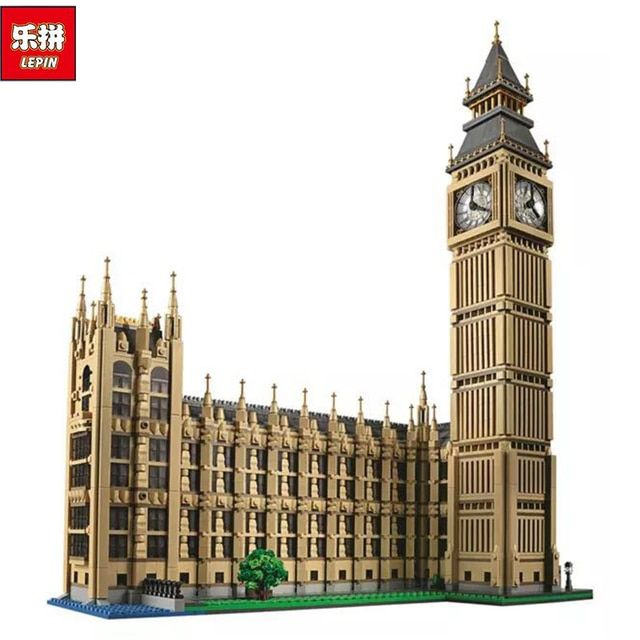 New LEPIN 17005 4163pcs Big Ben Elizabeth Tower Model Building Kits Brick Toys Compatible10253 Gift