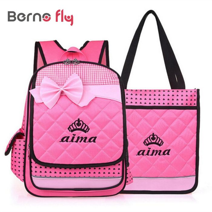 2016 Fashion Nylon School Bag for Girls Backpacks Child Bags Children Students Bags For Girls Plaid backpack casual bag