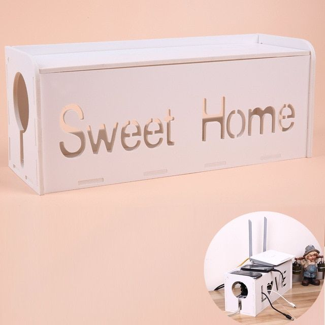 High quality Non Formaldehyde antiflaming storage Box Cable Box Lacquer DIY Electrical Outlet Power Strip Wire Cord Collection
