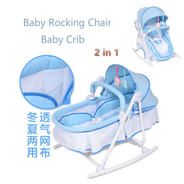 Metal Baby Crib Rocking Bed Baby Cradle Cot & Baby Stroller With With Fabric Mosquito Net Infant Crib Baby Bed