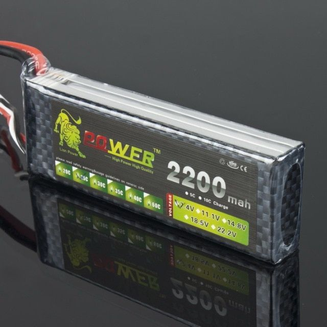 Lion Lipo Battery 7.4V 2200mah 25C Max 40C T/XT60 Plug for RC Qudcopter Helicopter WLtoys K949 Car Traxxax 1/16 Revo Toy battery