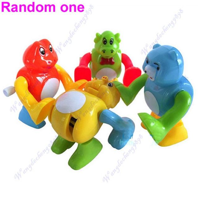5pcs/lot Funny Clockwork Wind Up Tumbling Somersault Animal Children Toy Gift