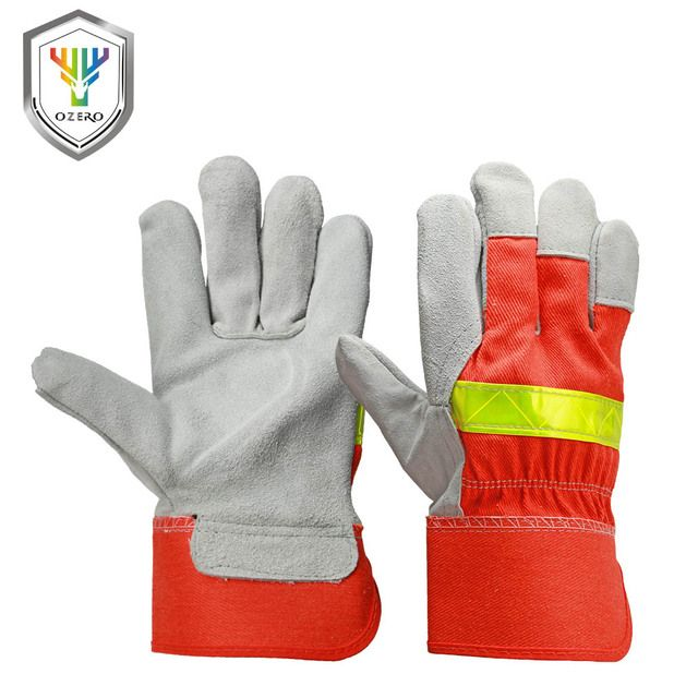 OZERO Fire Protective Gloves Fire Proof Anti-fire Equipment Heat -Resistant Flame-retardant Gloves With Reflective Strap    1109
