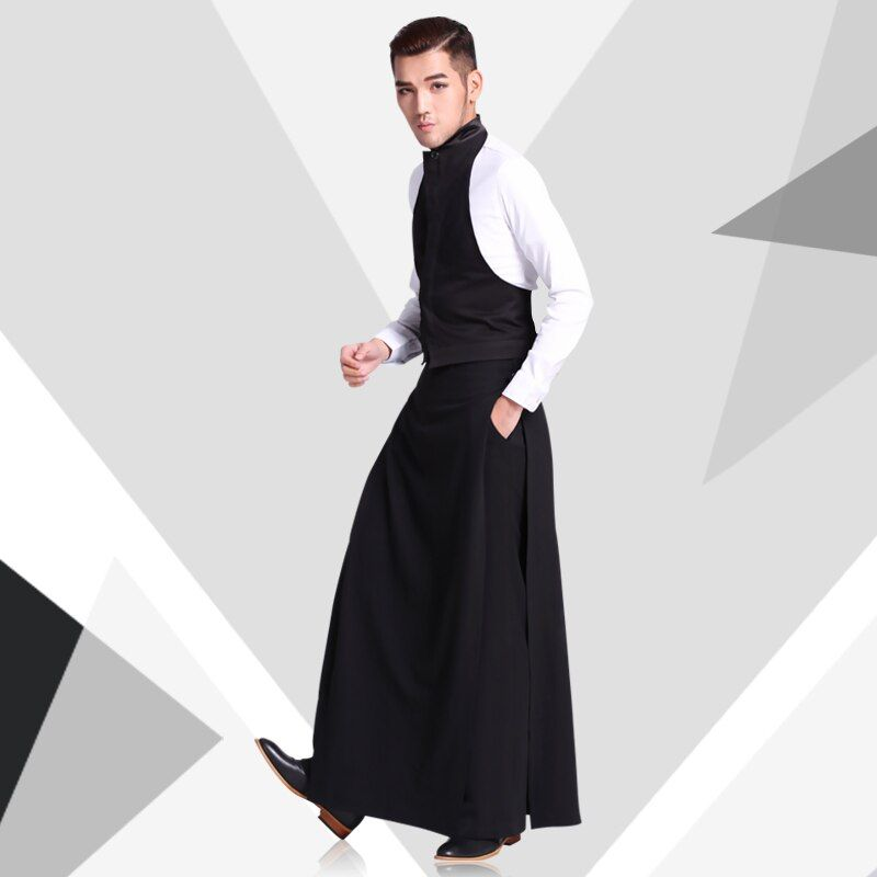 Casual pants tide men's Culottes fashion trousers tide clothing work wear set hairstylist singer costumes HOT 2019