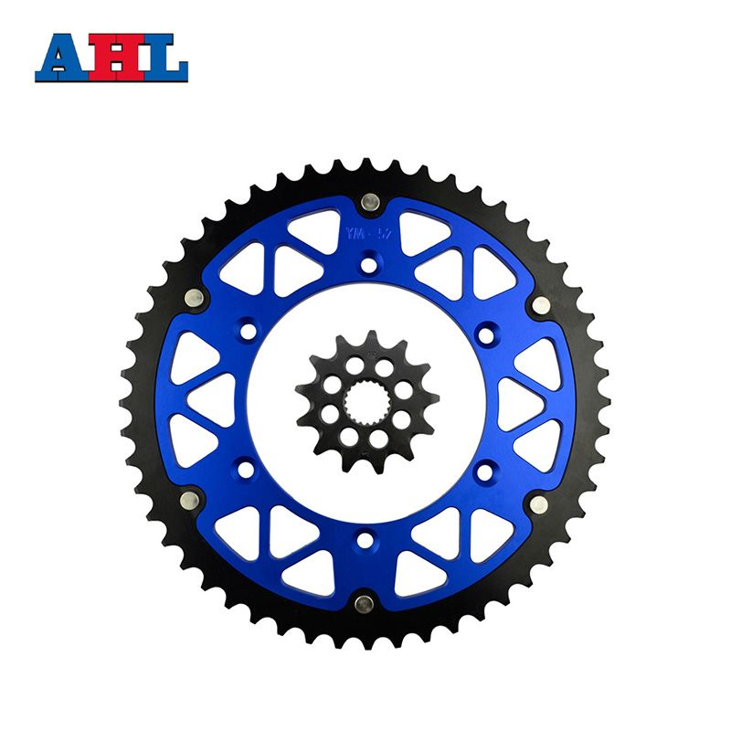 Motorcycle Parts 52-13 T Front & Rear Sprockets Kit For YAMAHA YZ125 YZ 125 2005-2014 Gear Fit 520 Chain