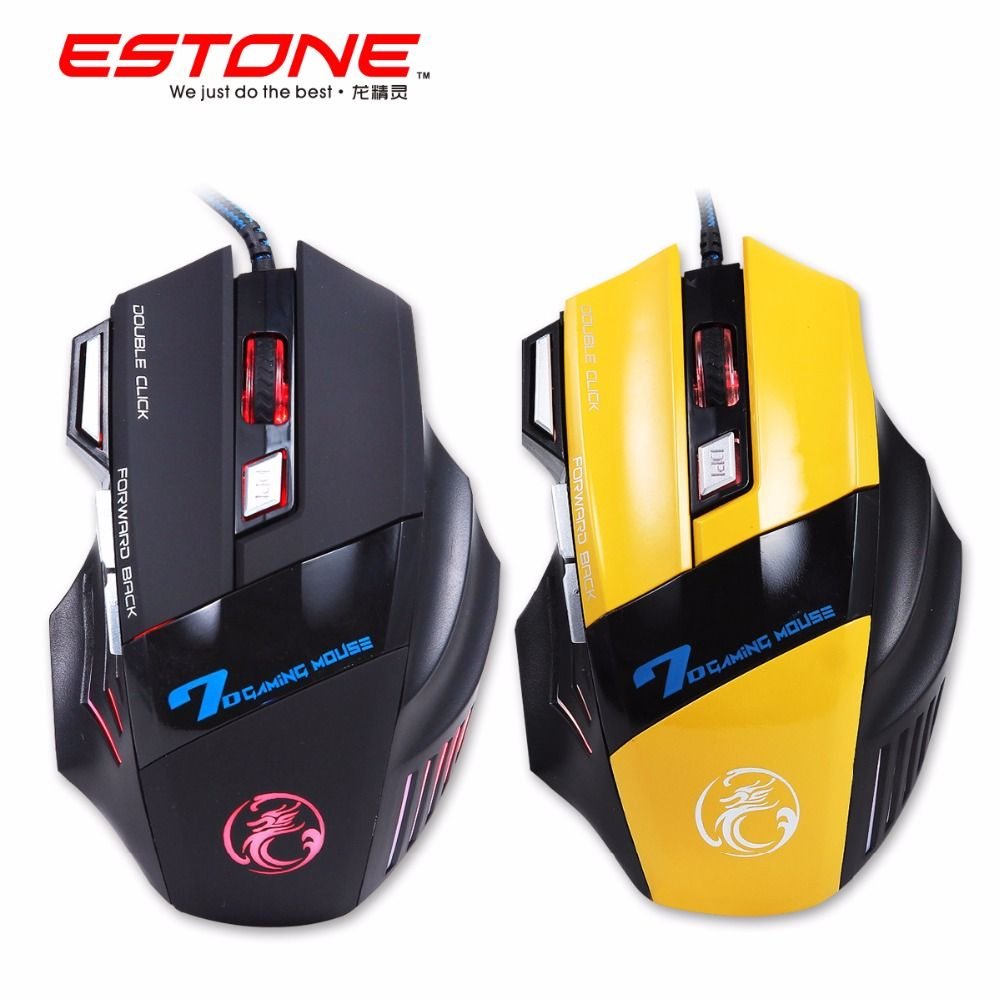 iMice X7 Gaming Mouse Optical USB Wired Computer mice Mause 7 Button 3200DPI Breathing Led Light for PC Laptop Desktop Gamer