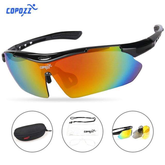 COPOZZ Cycling Glasses 2018 men women Mountain Bike Bicycle Cycling Sunglasses MTB Glasses Motorcycle Sports Eyewear Goggles