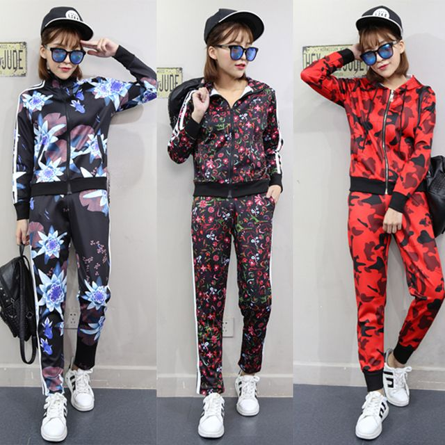 tracksuit for women women's suits women's tracksuits 2 piece set women two piece set print brand fashion students casual clothes