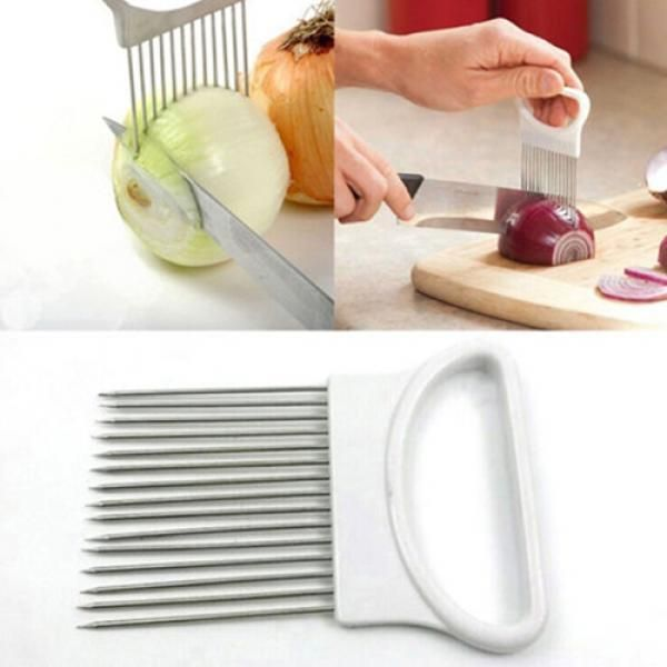 2019 Vegetable Fruit Beef Onion Slicer Cutting Holder Slicing Cutter Stainless Steel Meat Needle