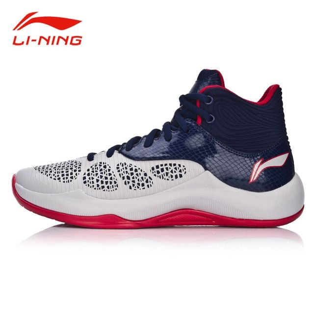 Li-Ning Men's  Sonic V Professional Damping Basketball Shoes LINING CLOUD Anti-Slip Medium Cut Sneakers Sports Shoes