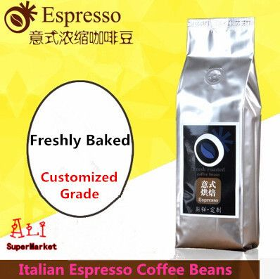 High Quality Italy Coffee Beans Imported Raw Coffee Bean Freshly Baked Italian Espresso Slimming Green Coffee 454g Free Shipping