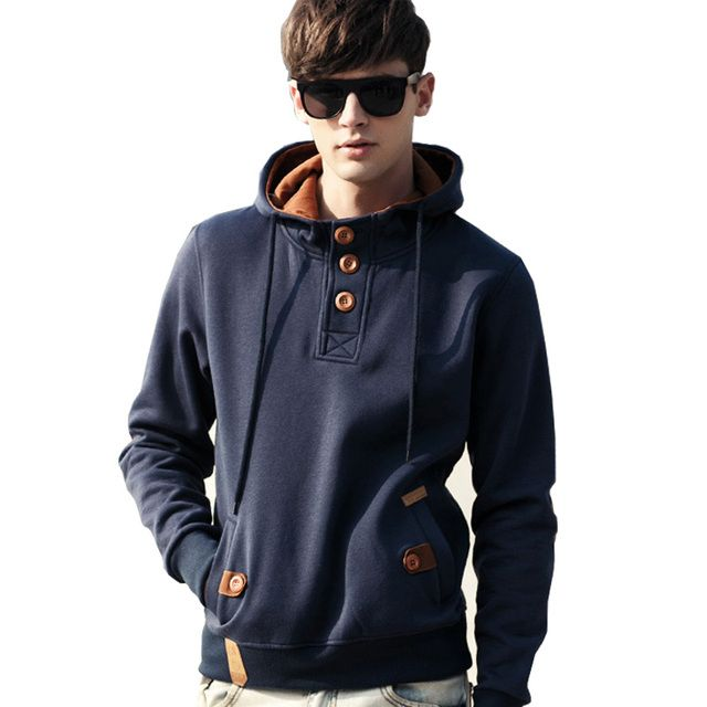 College Wind Hooded Hoody Jacket Men Coat Full Cotton Solid Yes Hoodies Sweatshirt Tracksuit New Sale Real Moletom A50