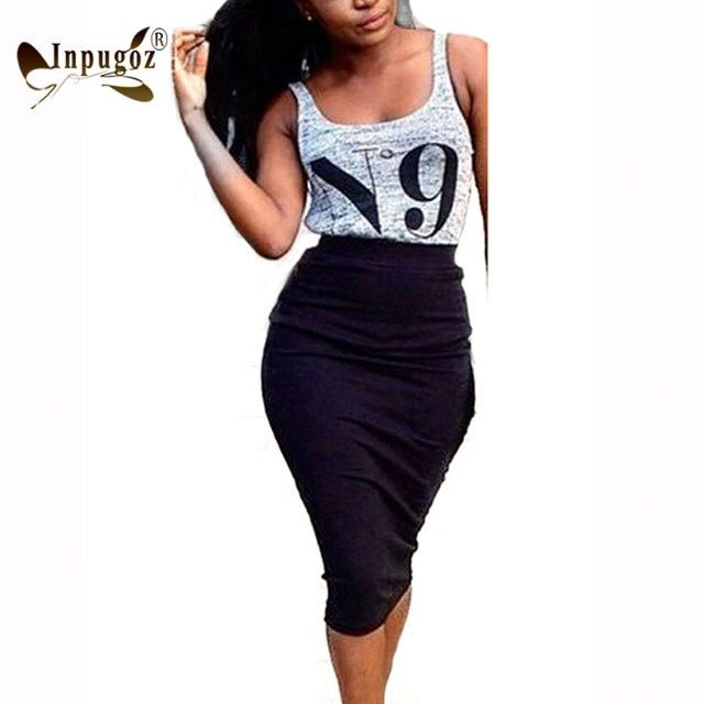 Summer Casual Style Women 2 Pieces Set Tank Tops With Skirt Sexy Bodycon Dress Sets Female
