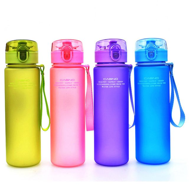400ml 560ml BPA Free Leak Proof Sports Water Bottle High Quality Tour Hiking Portable  Bottles