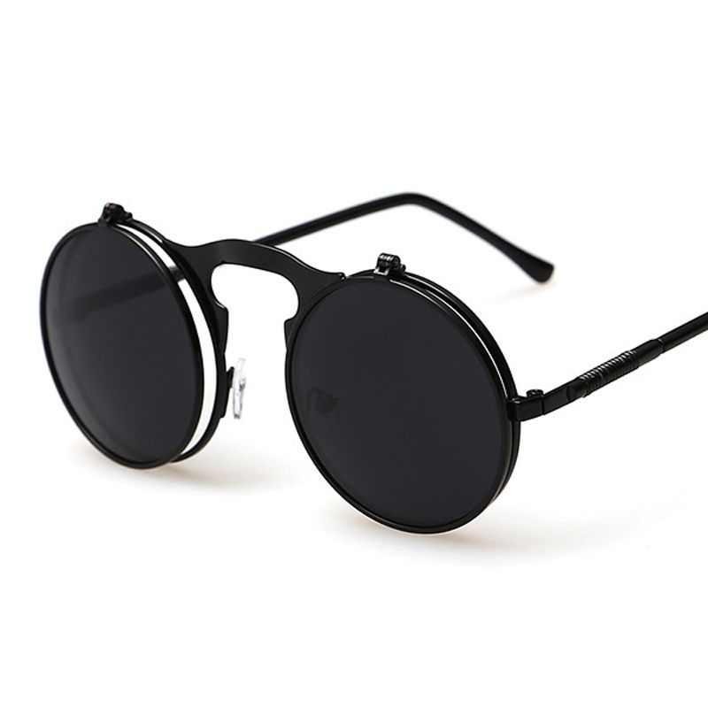 VINTAGE women STEAMPUNK SUNGLASSES round female steam punk retro de sol ladies Men Retro SUN GLASSES sunglasses for women
